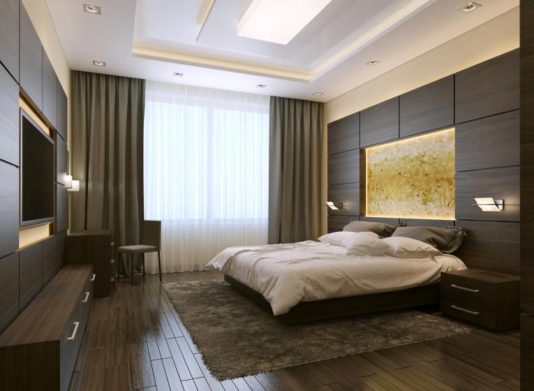 Sypialnia w inteligentnym domu