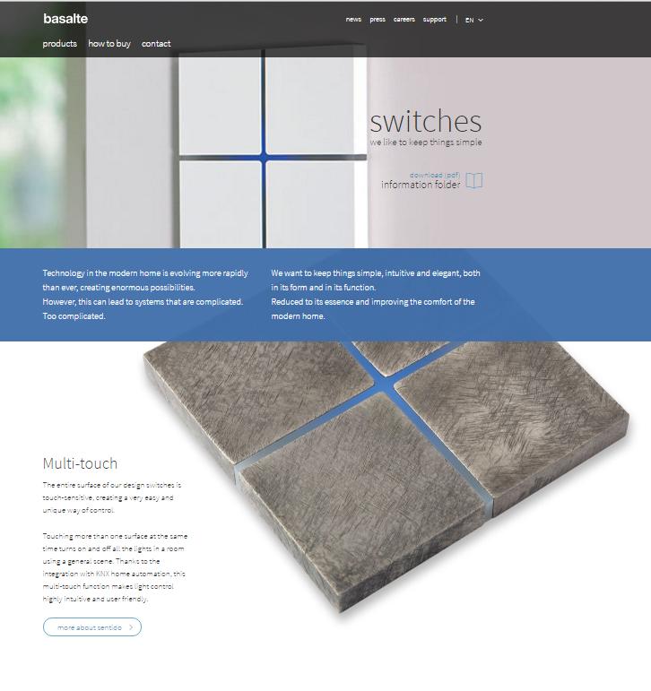 Strona internetowa Basalte
