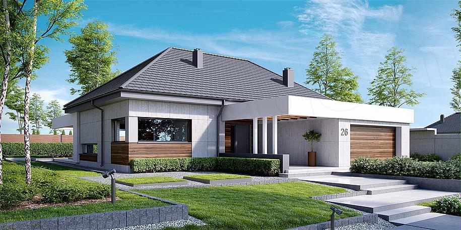 Dom jednorodzinny - projekt Extradom